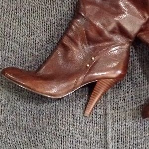 Nine West NwTrurman Brown Leather Boots Sz. 9